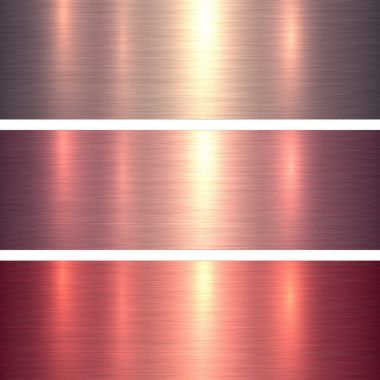 Metal textures pink and red