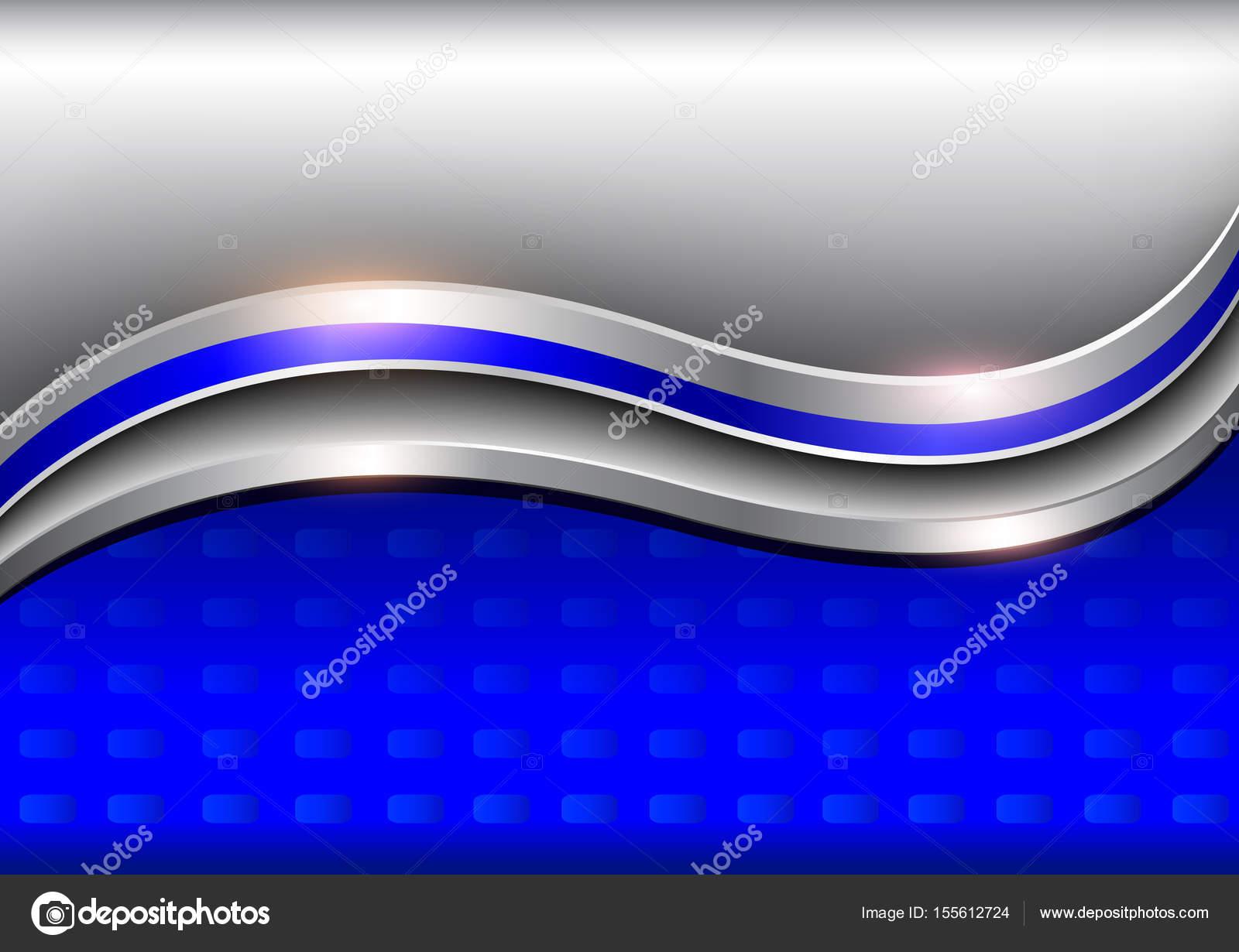 elegant background silver blue metallic � stock vector