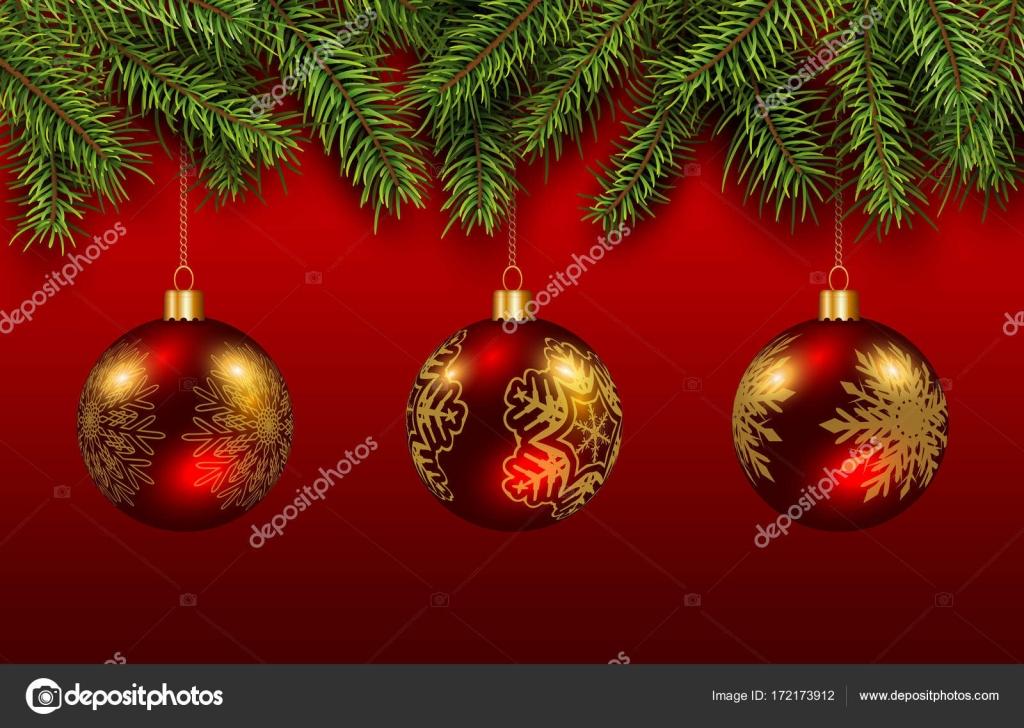 Weihnachtskugeln Rot Gold.Weihnachten Weihnachtskugeln Rot Und Gold Stockvektor Cobalt88