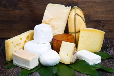 various types of soft and hard cheese
