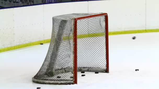 prázdné lední hokej sítě