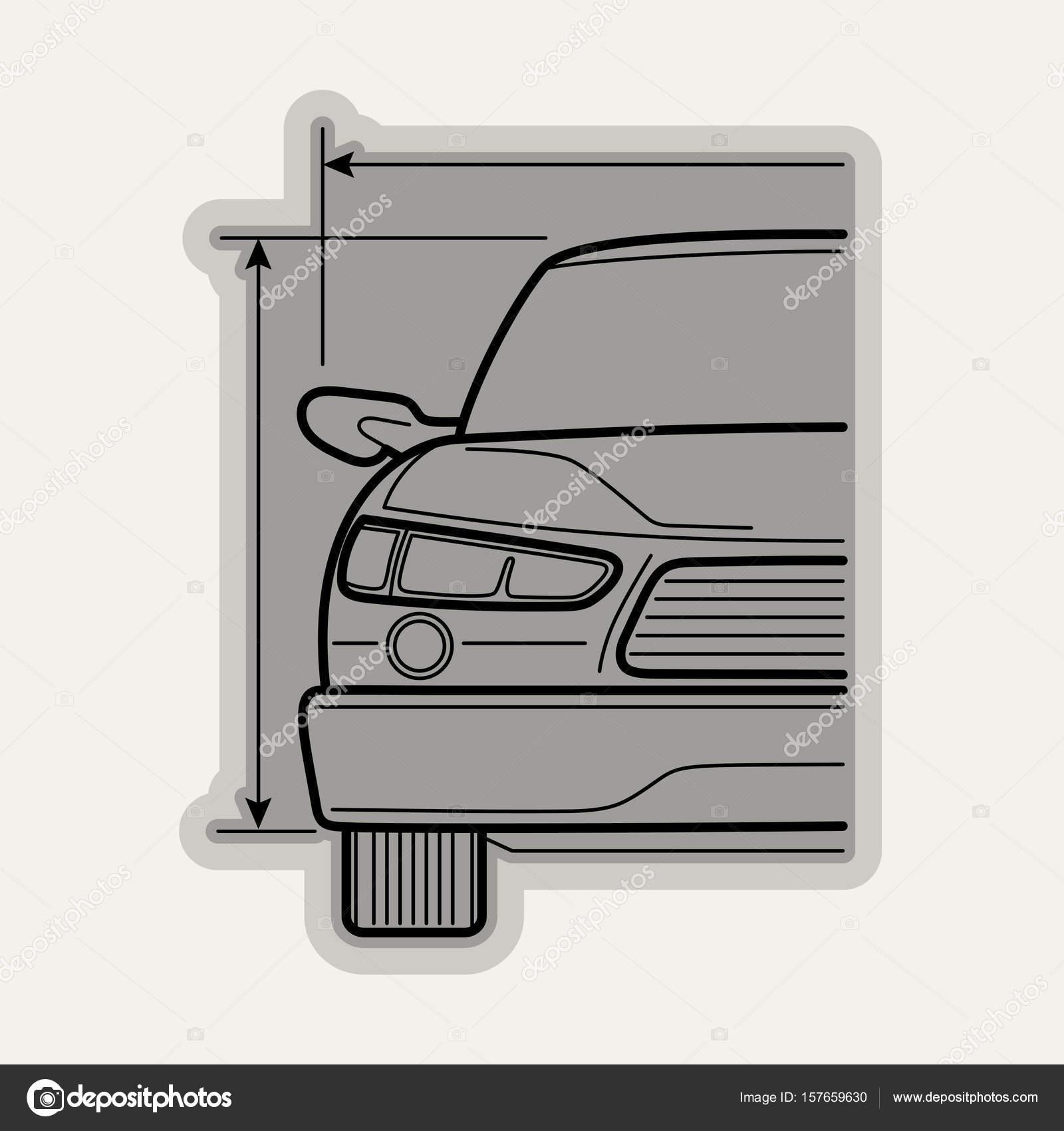 Linie flach Vektor Icon Autoteile — Stockvektor © sanyal #157659630