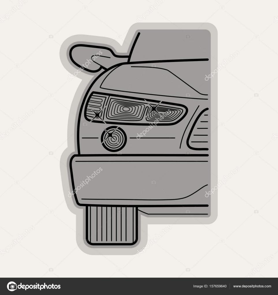 Line flat vector icon car parts — Stock Vector © sanyal #157659640