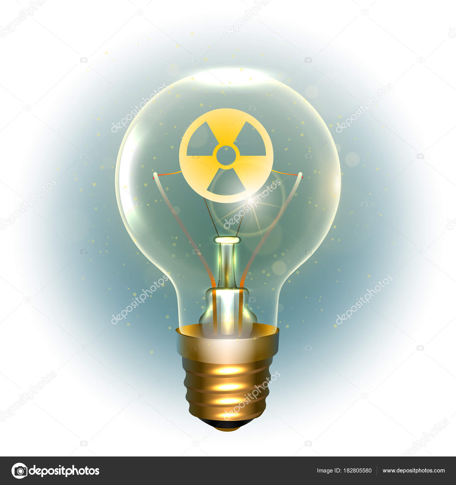Realistische Lampe mit dem symbol — Stockvektor © sanyal #182805580