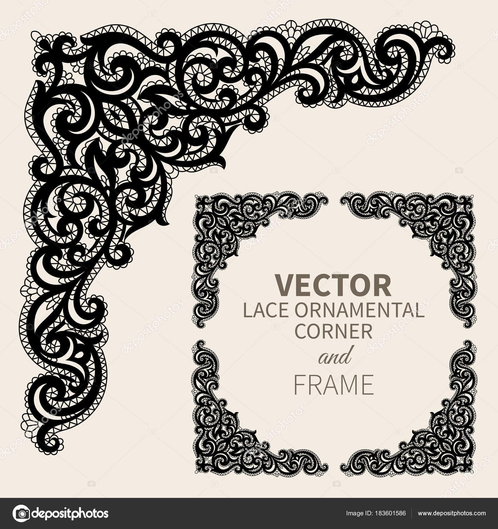 Marco de esquina ornamentales Vector — Vector de stock © sanyal ...