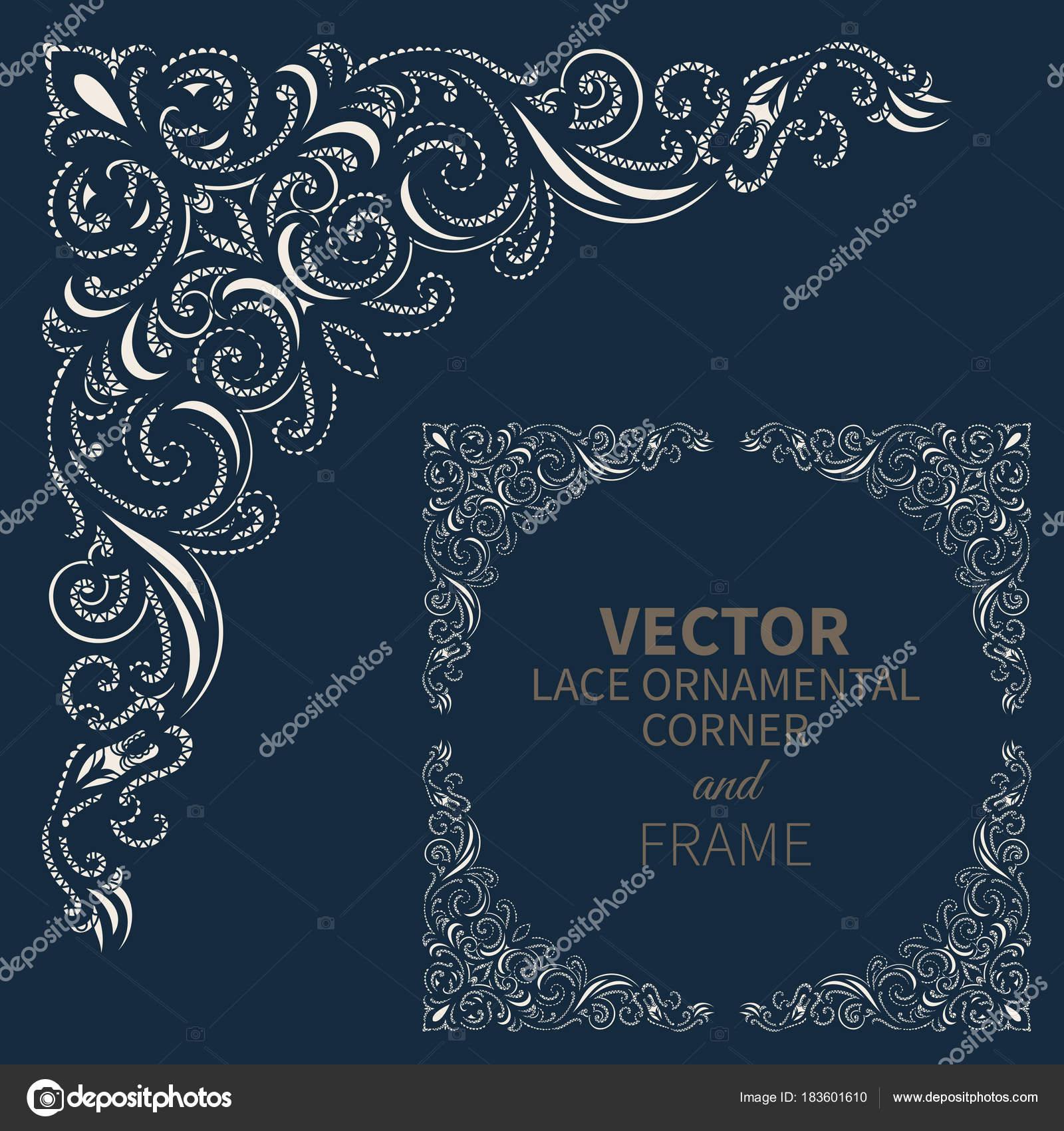 Marco de esquina ornamentales Vector — Archivo Imágenes Vectoriales ...