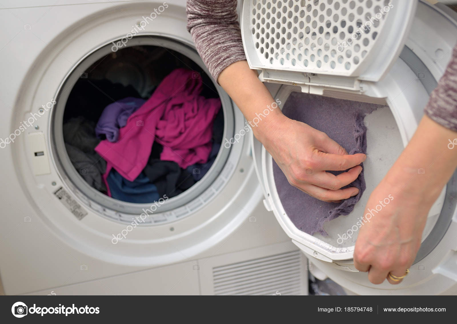 drop something in the dryer lint compartment - 1025×625