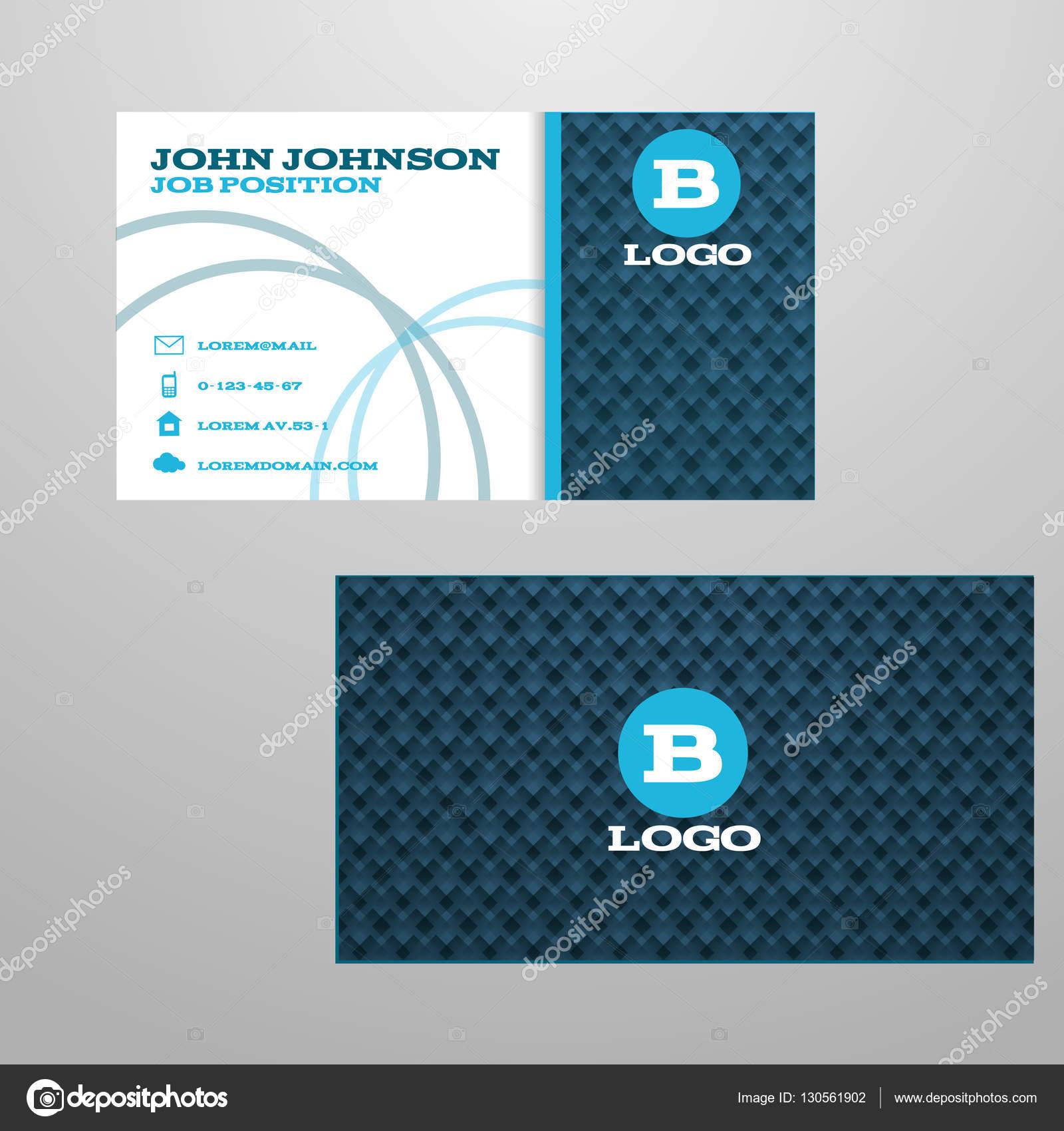 Cartes De Visite Bleu Cratif Vector Illustration Eps 10 Image Vectorielle