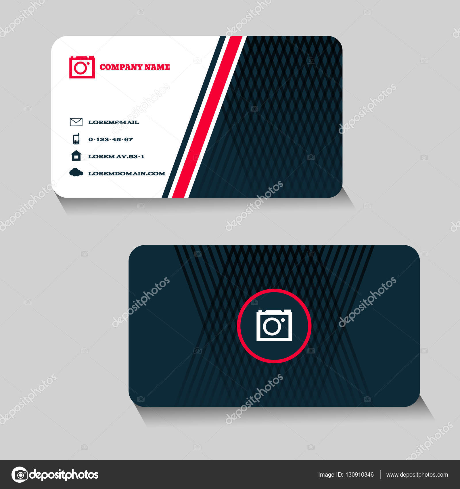 Creatif Et Propre Business Card Template Design Vectoriel Eps 10