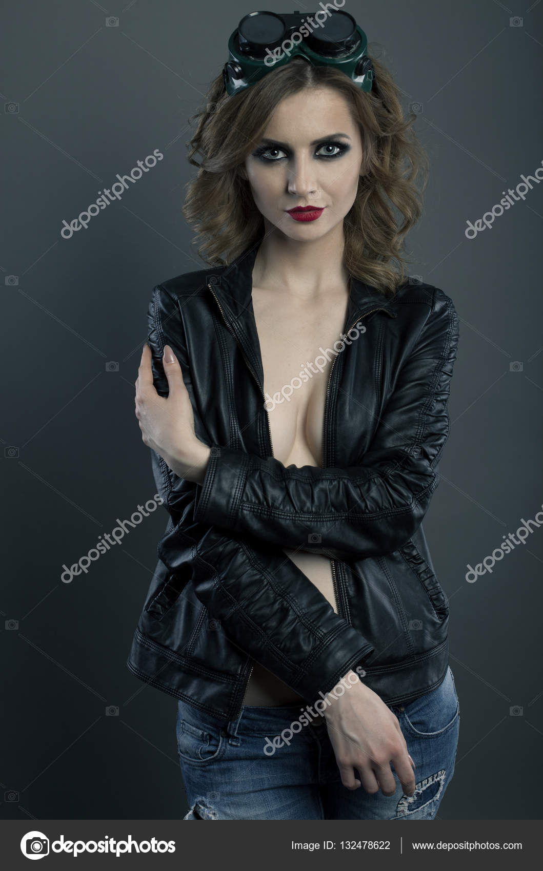 Sexy girl welder