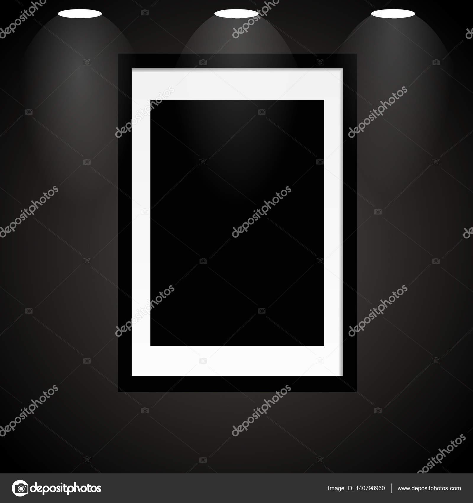 Leere schwarzer Rahmen mit Licht für Ihren Entwurf Eps 10 Vektor ...
