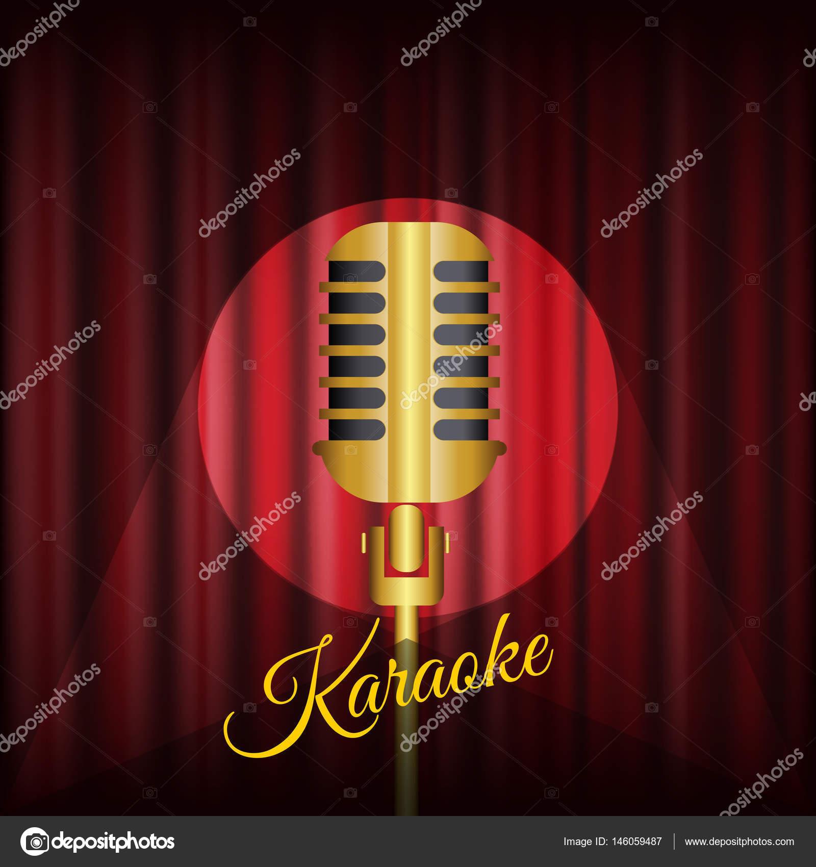 Karaoke Flyer Abstract Banner Vector Eps 10 Stock Vector
