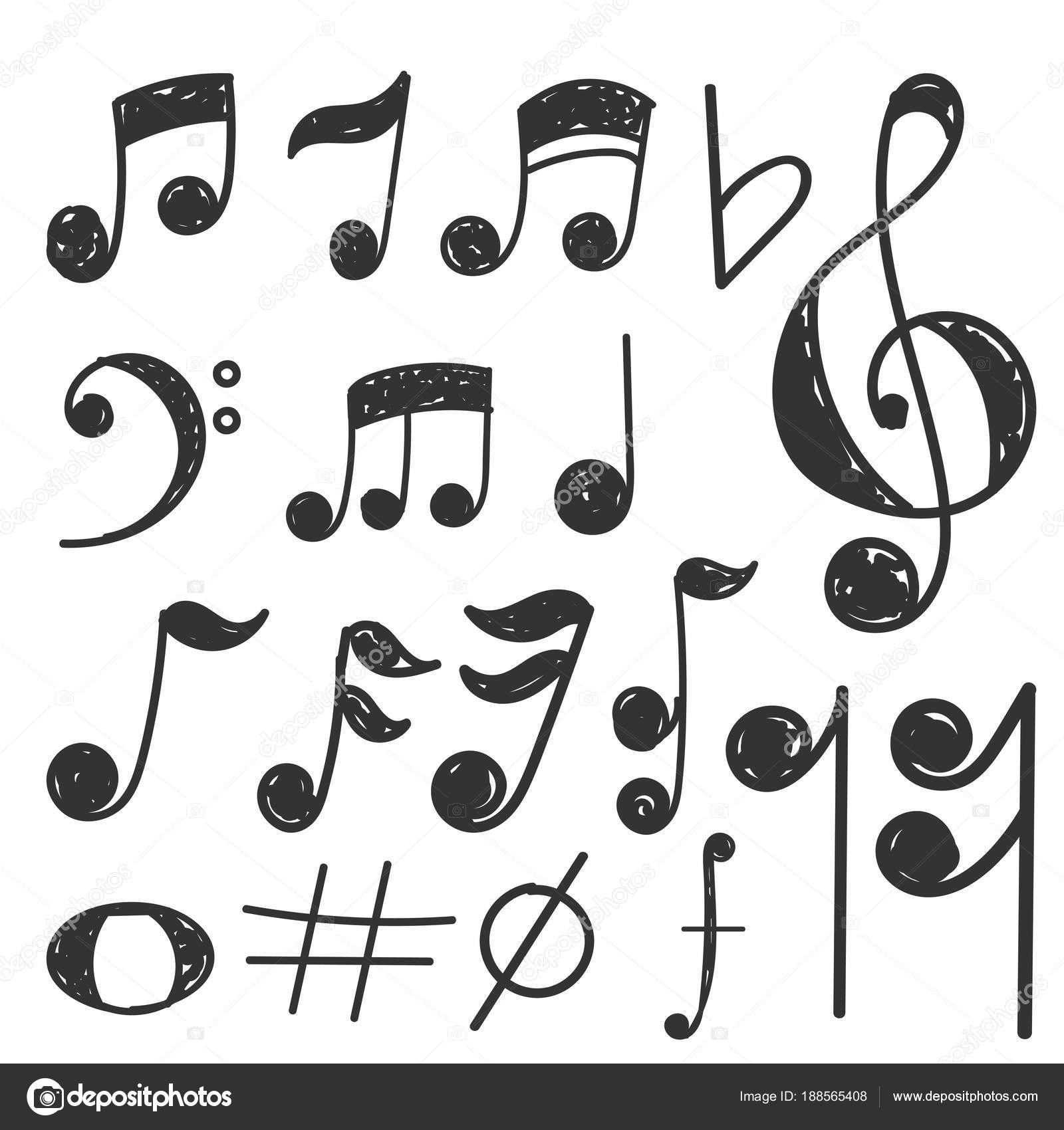 Music Notes To Draw Music Note Hand Draw Set Concept Eps 10 Stock Vector C Nikola82 188565408