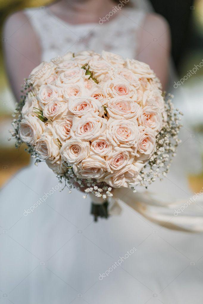 Weiche Vintage Sanfte Hochzeit Bouquet Blumen Pastell Farben Foto