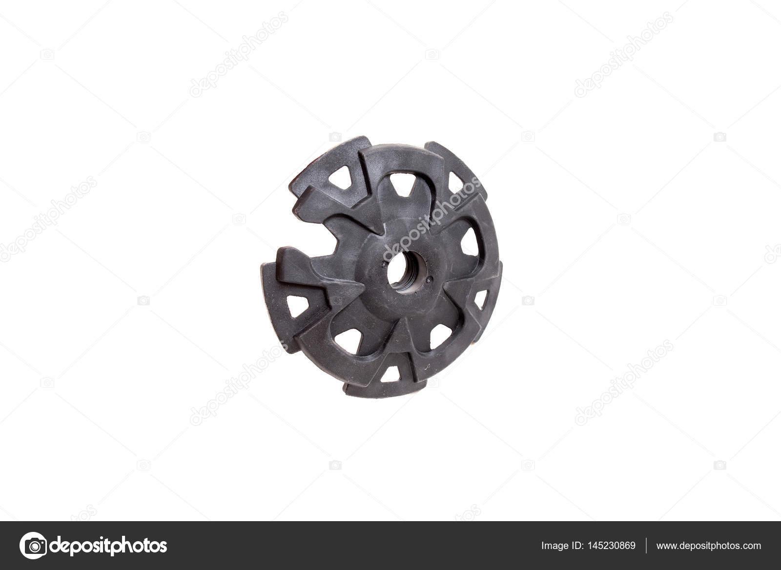 All Black Enement Rings | Ring Von Wandern Oder Ski Stick Isoliert Element Stockfoto