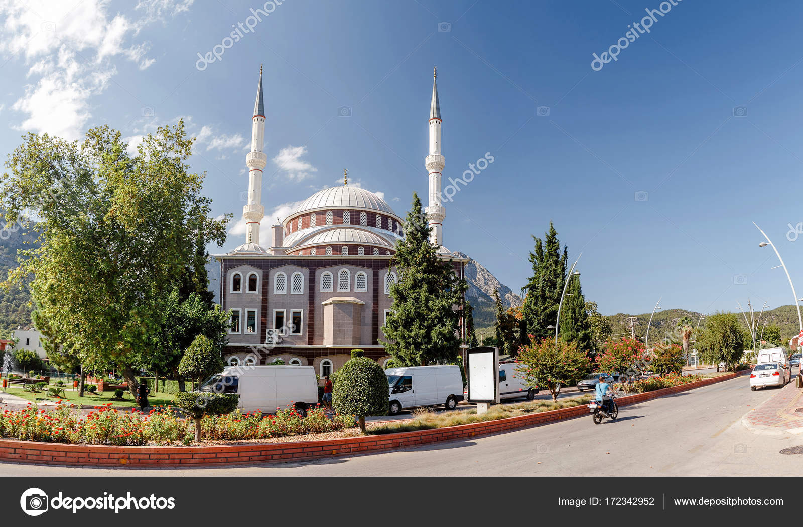 22 september 2017, goynuk, turkey: big mosque with minarets in