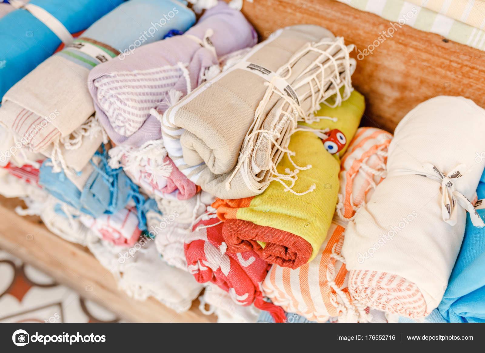 Tovaglioli di bagno turco tradizionali per la vendita al mercato