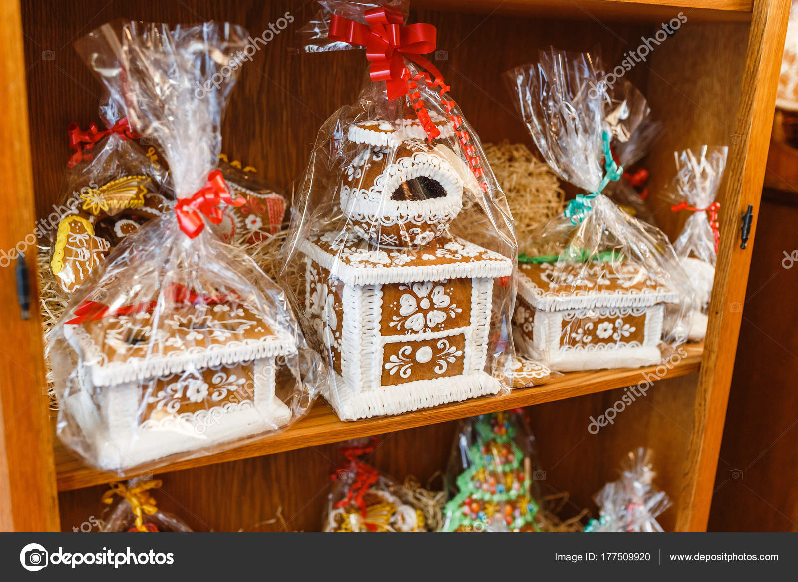 Christmas Homemade Gingerbread Cookies For Sale At New Year Fair