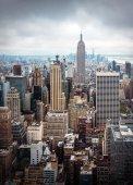 Letecký pohled na New York City Manhattan midtown