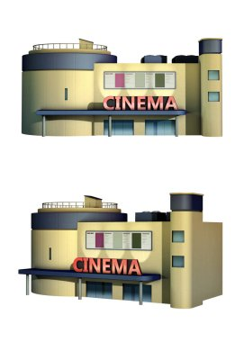 Rendering of a cinema building