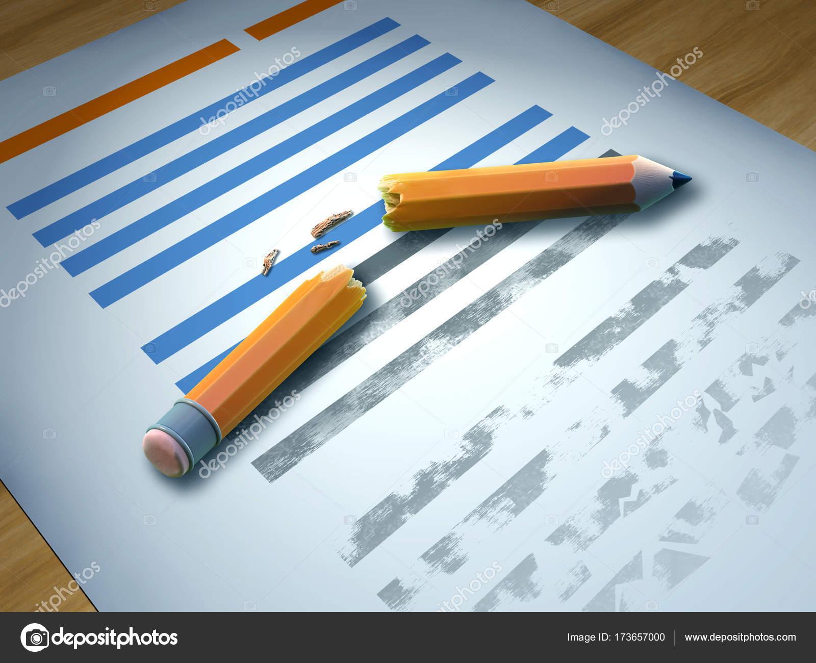 Persvrijheid Gebroken Potlood Over Een Vel Papier Stockfoto