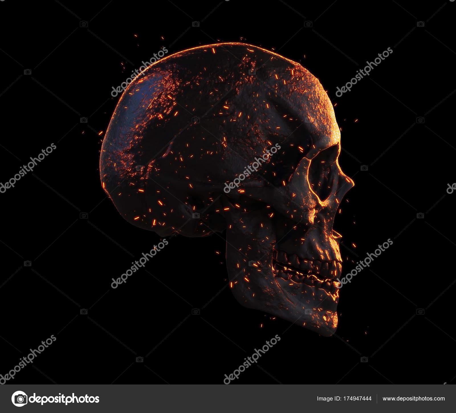 Skull Wallpaper 4k Skull Burned Isolated Wallpaper