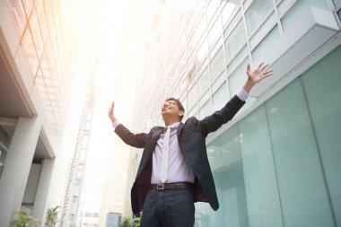 business man celebrating success