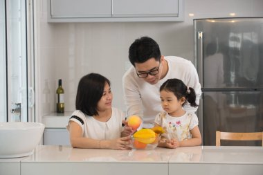 asian family cooking
