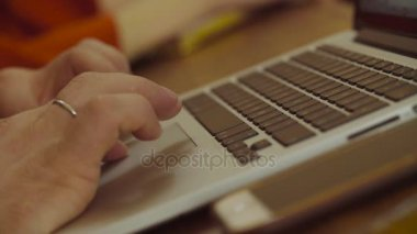 Mens hands on the computer keyboard