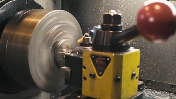 CNC milling machine at work
