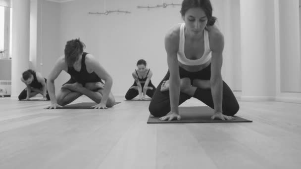 Yoga class. Ashtanga yoga. Upward dog