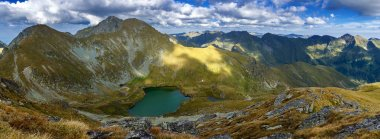 Romanian Carpathians and glacial lake Capra