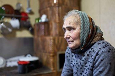 Senior farmer woman indoor