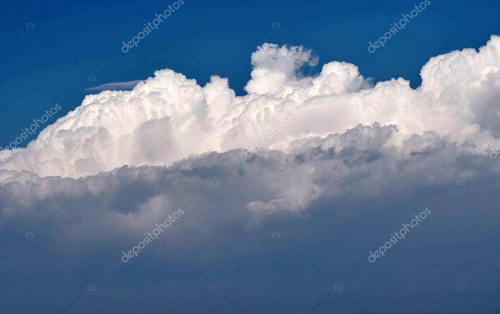 Huge cumulus clouds
