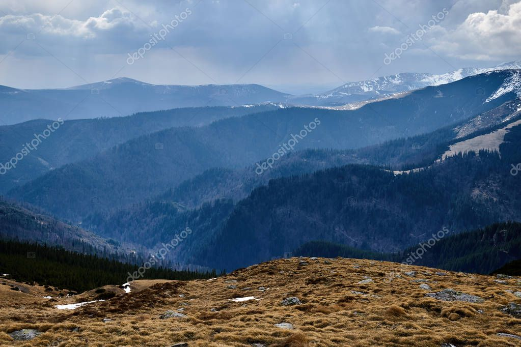 Parang mountains in Romania