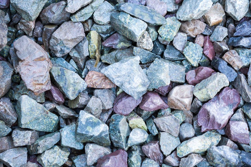 Many grayish scree stones