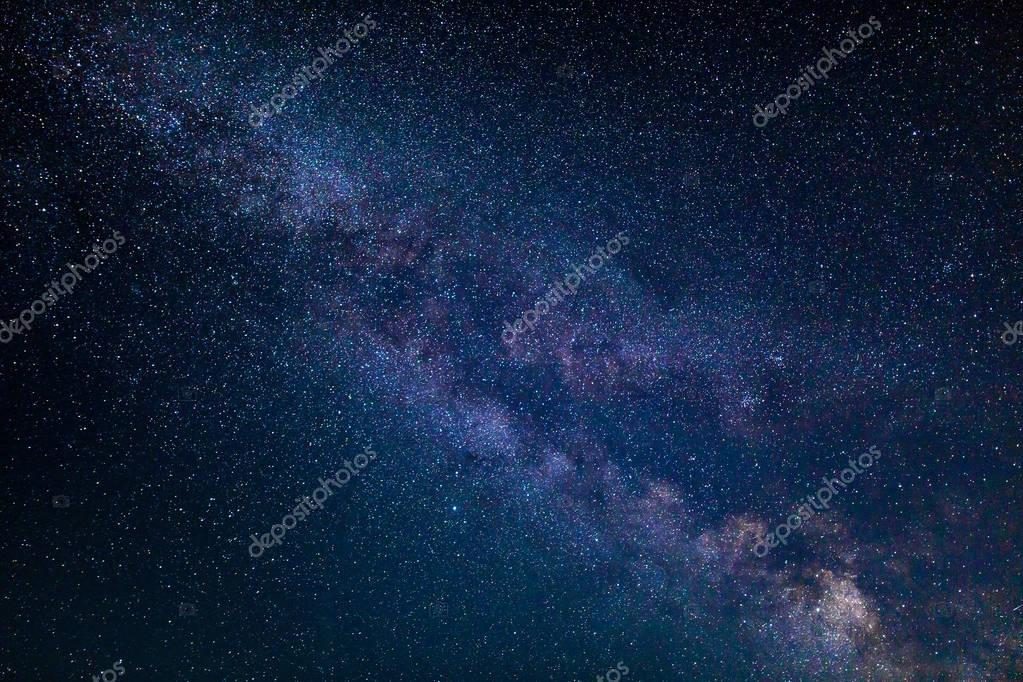 Night scape with stars and Milky Way galaxy