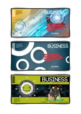 Set of business covers