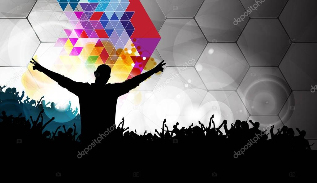 Music event illustrartion