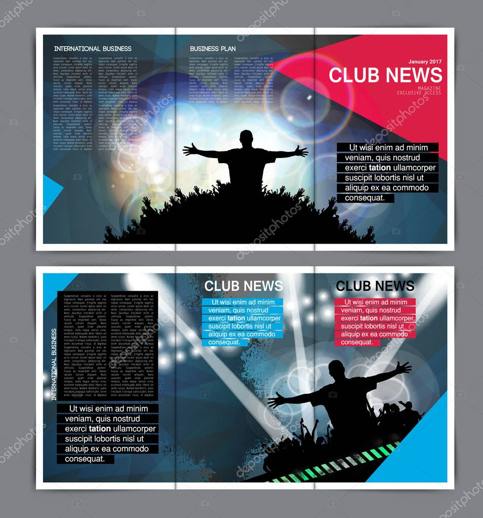 Disco party brochure layout