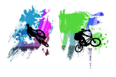 BMX sport illustration