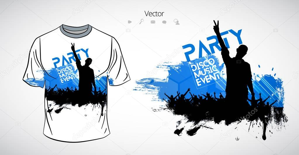 T-shirt party template