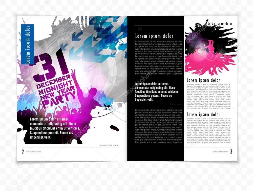 Brochure layout illustration