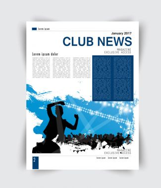 Brochure layout with club news