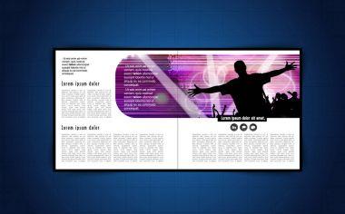 Brochure music layout
