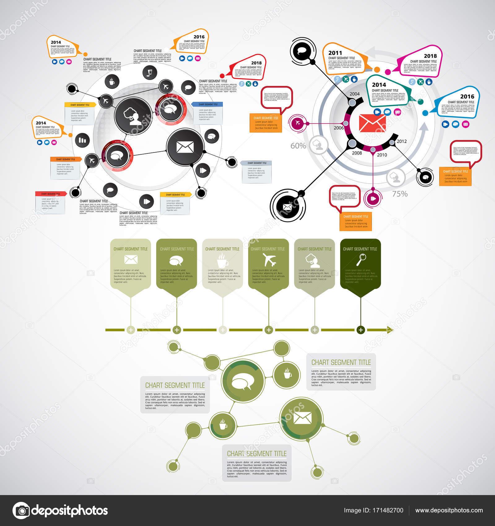Ilustración infografía plantillas — Archivo Imágenes Vectoriales ...