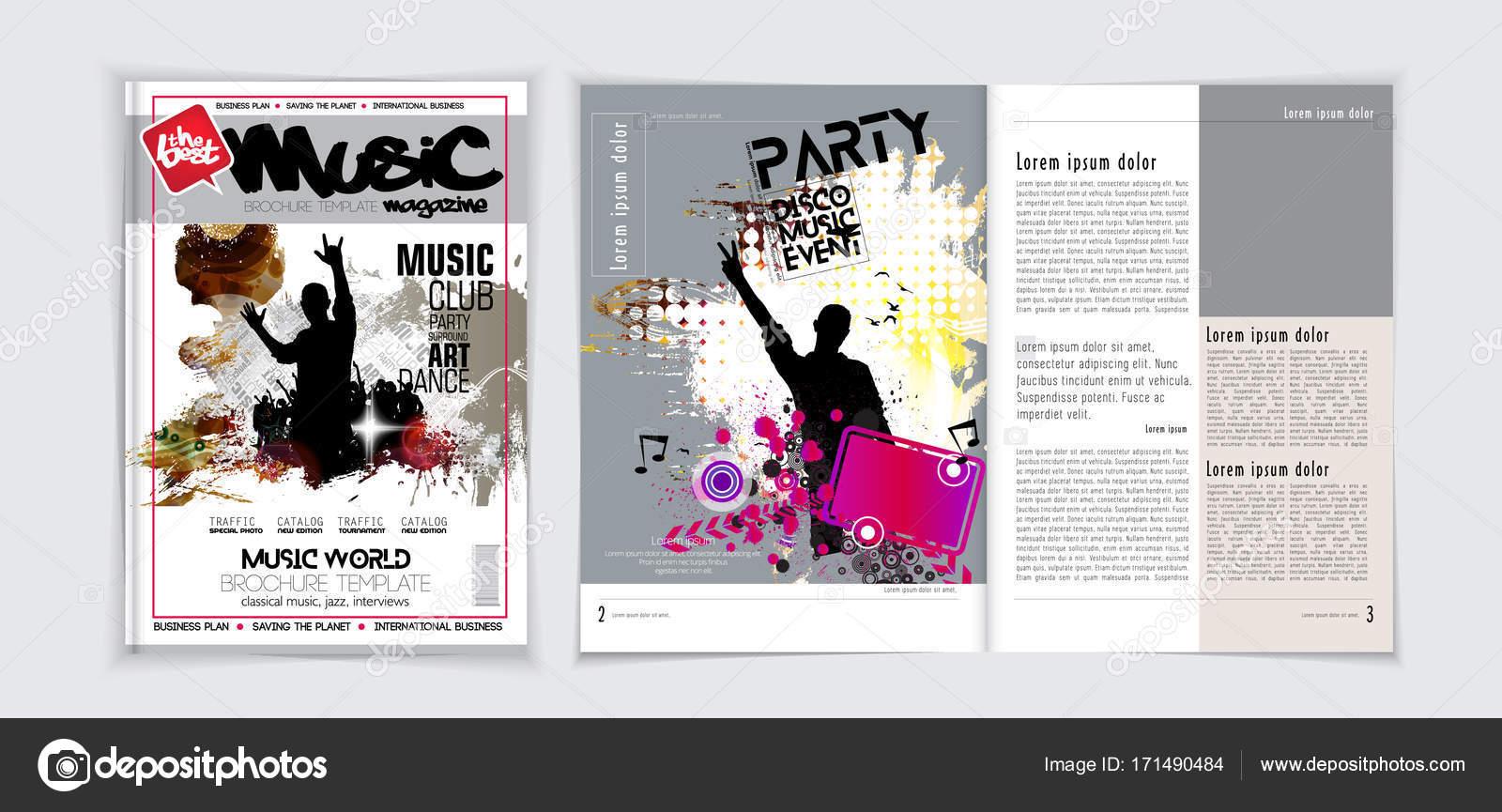 Musik Magazin-layout — Stockvektor © zeber2010 #171490484