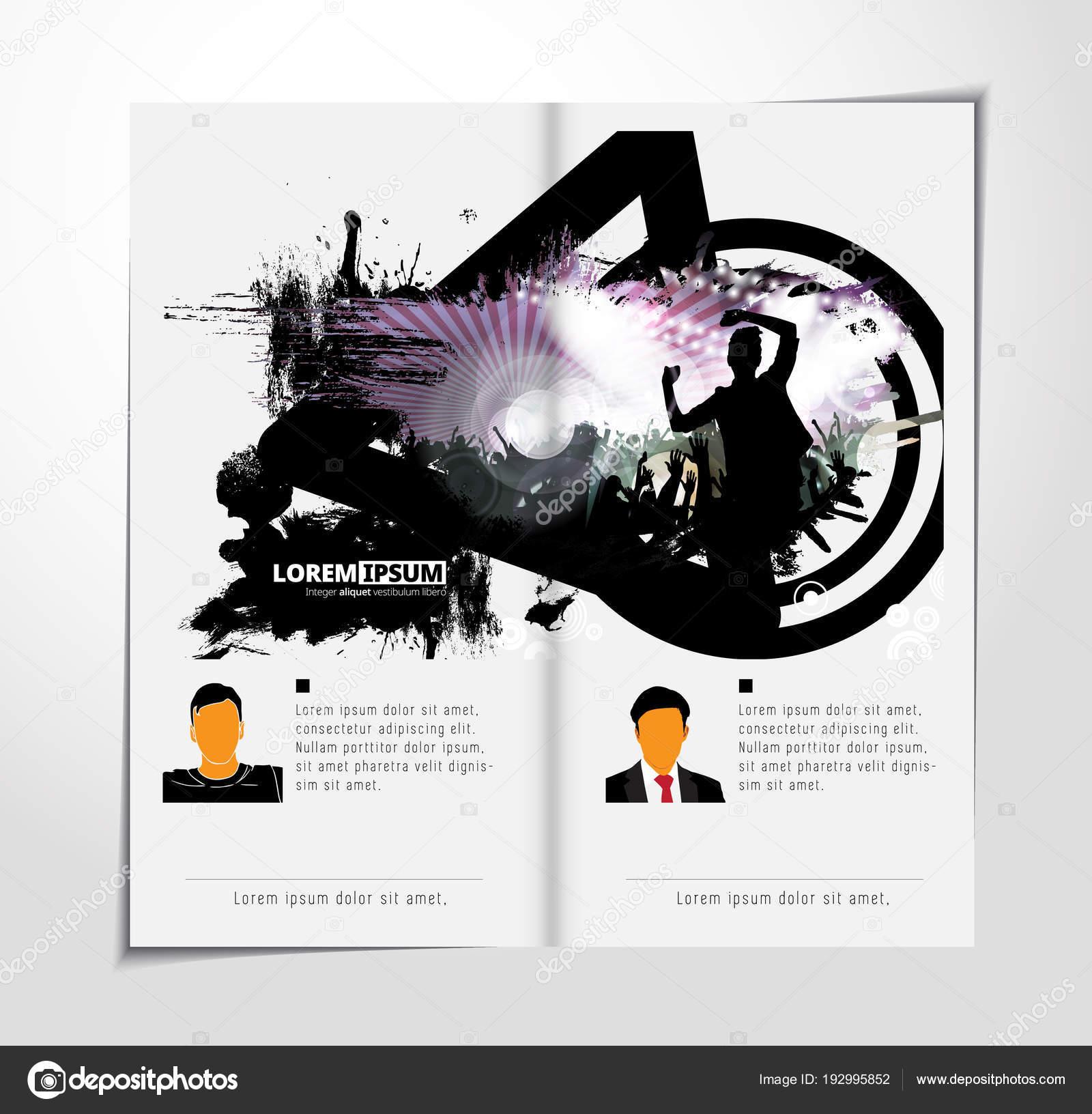 Musik Broschüre Layout Vektor Illustration — Stockvektor © zeber2010 ...