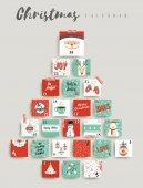 Weihnachten Adventskalender niedliche Dekoration