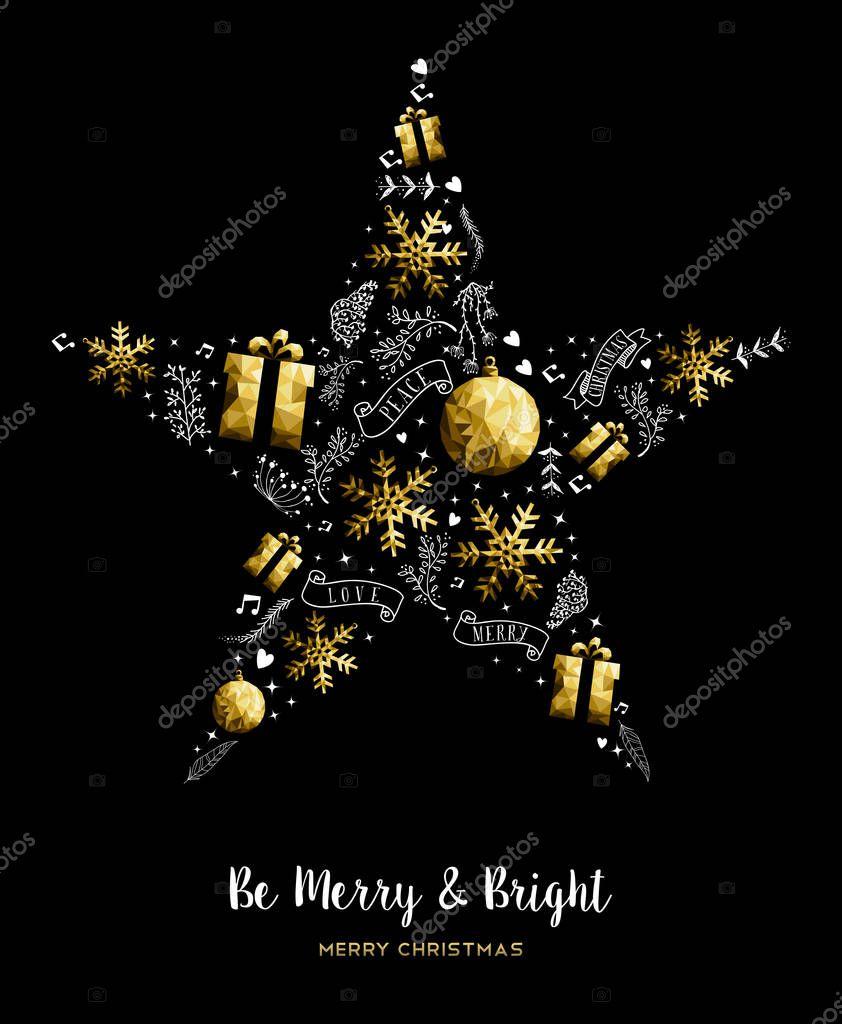 Frohe weihnachten gold sterne dekoration ornament stockvektor cienpies 128836362 - Dekoration gold ...